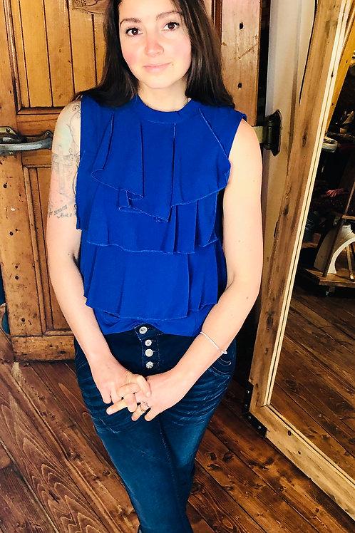 Cream Cabrilla Blouse Blue