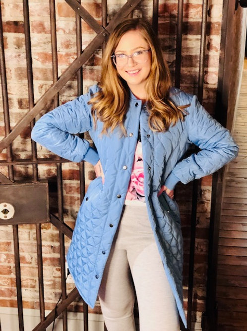 Kaffe KAshally Blue Quilted Coat