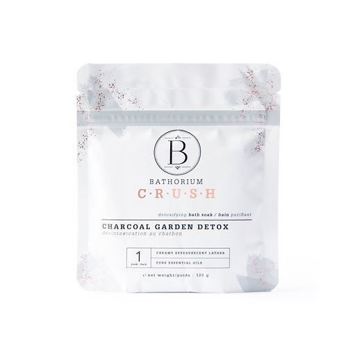 Bathorium Bath Salt Charcoal Garden Detox 120g