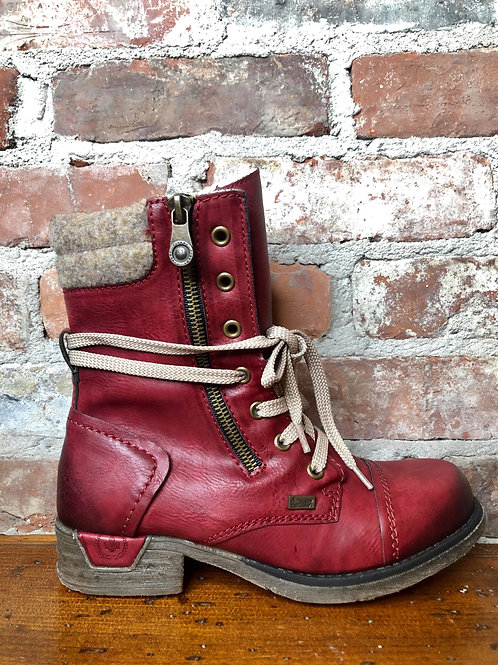 Rieker Red Boot 79633-35