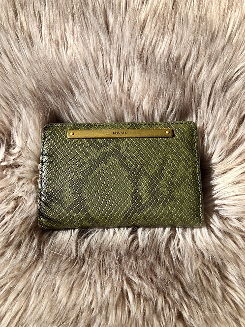 Fossil Green Snake Mini Wallet SL6407246