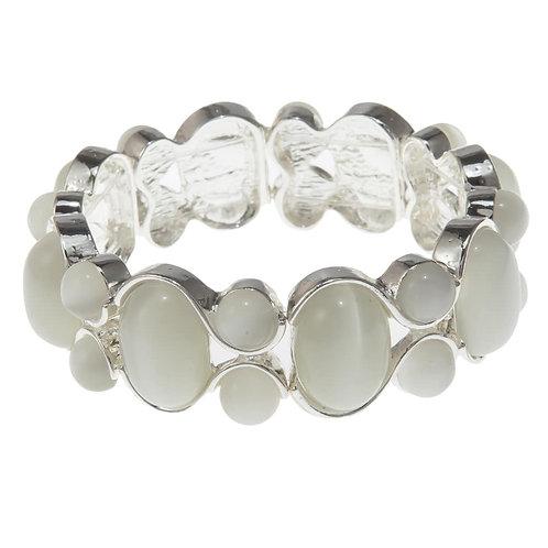 Nora Sylvie Oval Silver Bracelet