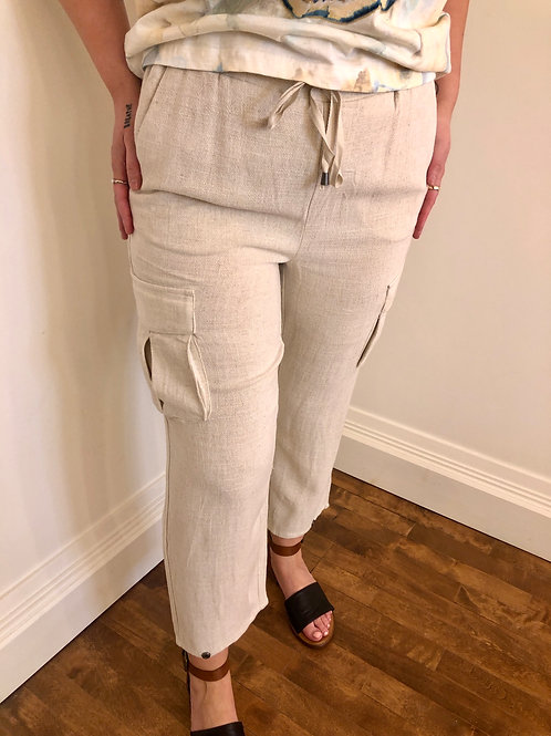 Cream LorineCR Beige Pants