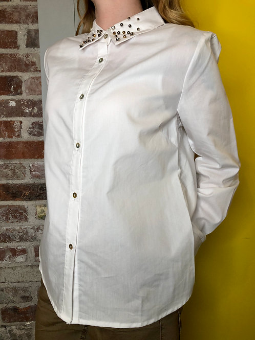 Cream Fia White Blouse