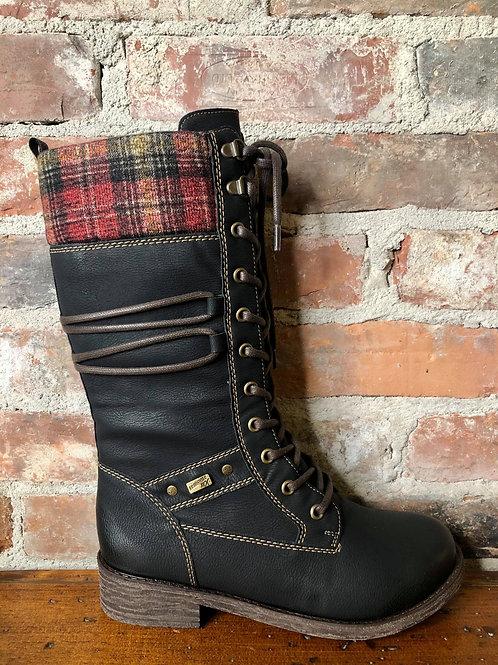 Remonte D8077-01  Black Boot