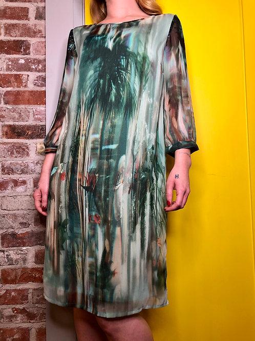 Cream Jeanne Malachite Dress