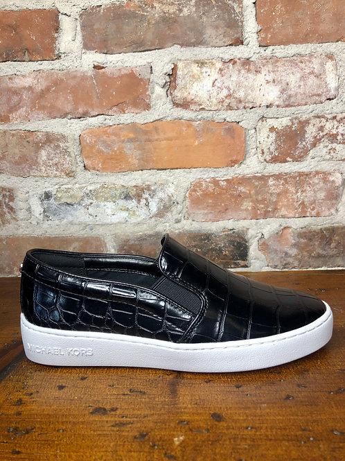 MK Keaton Black & White Croc Sneaker