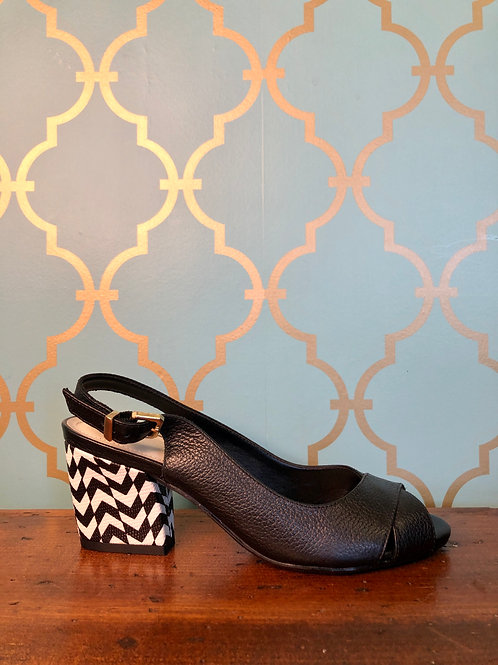 Capelli Rossi Beatrix Black/White Heel