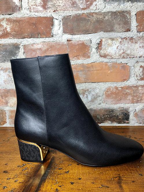 MK Lana Gold Block Heel Bootie