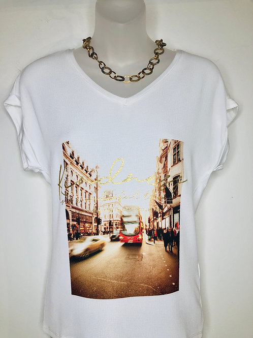 Cream NoraCR T-Shirt City