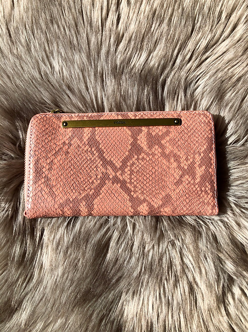 Fossil Lisa Pink Snake Wallet SL6408556