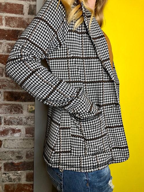Cream Katy Houndstooth Blazer