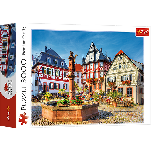 Puzzle Market Square, Heppenheim germany