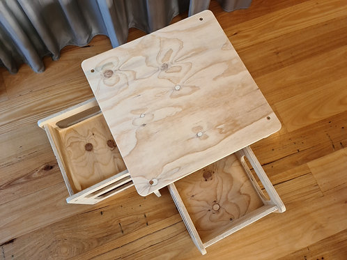 Toddler table and weaning chairs set - Australian made