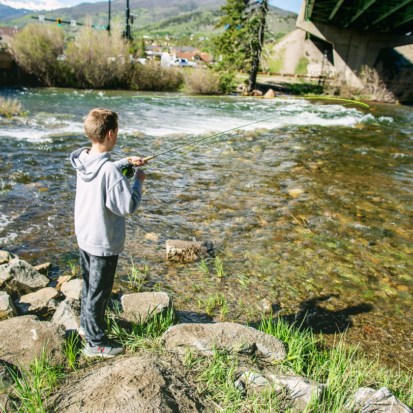 Fly Fishing the Blue River in Colorado