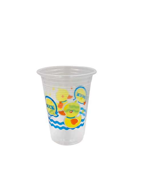 แก้วพลาสติก PP 16 ออนซ์ ปาก 95 ลอนลาย เป็ด