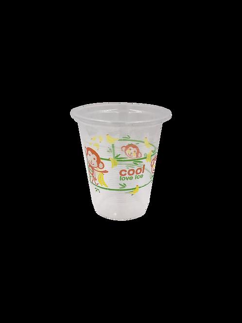 แก้วพลาสติก PP 12 ออนซ์ ปาก 95 (360 cc) ลอนลาย cool love ice