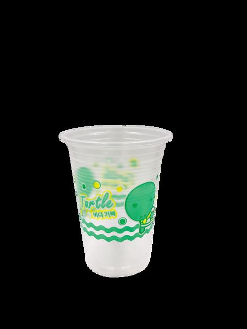 แก้วพลาสติก PP 16 ออนซ์ ปาก 95 ลอนลาย เต่า