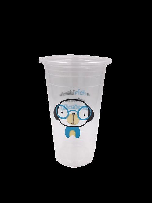 แก้วพลาสติก PP 22 ออนซ์ ปาก 95 เรียบลาย บ๊อก บ๊อก