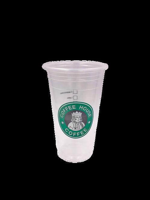 แก้วพลาสติก PP 22 ออนซ์ ปาก 95 เรียบลาย สตาร์คิง