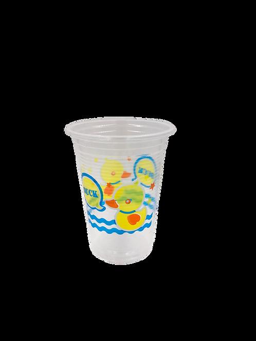 แก้วพลาสติก PP 16 ออนซ์ ปาก 95 เรียบลาย เป็ด