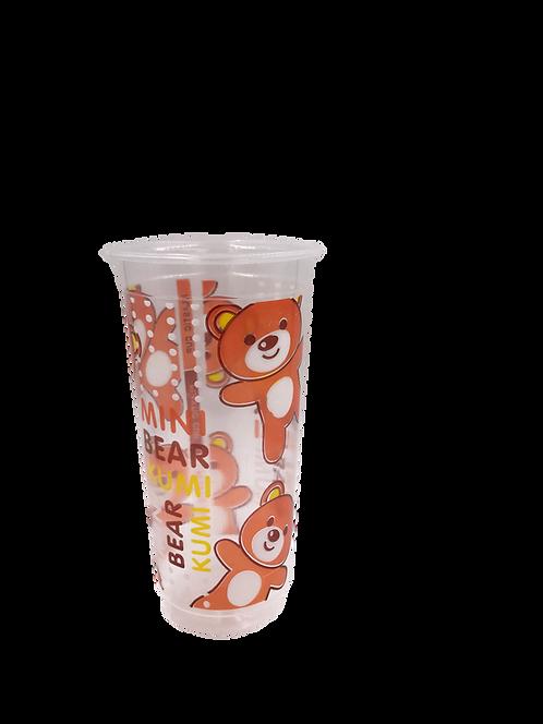 แก้วพลาสติก PP 22 ออนซ์ ปาก 90 เรียบลาย มินิแบร์