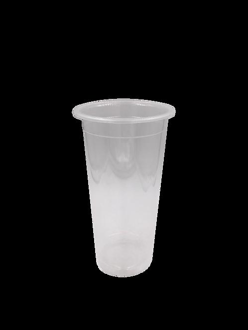 แก้วพลาสติก PP 22 ออนซ์ ปาก 90 เรียบใส