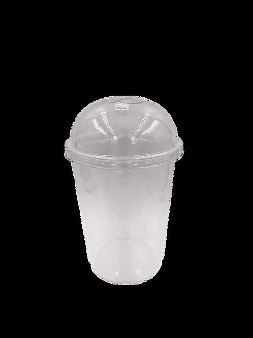 แก้วพลาสติก PP 32 ออนซ์ (ถัง) + ฝาใส
