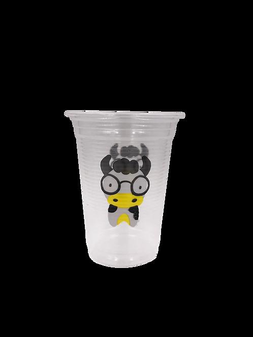 แก้วพลาสติก PP 16 ออนซ์ ปาก 95 ลอนลาย วัว