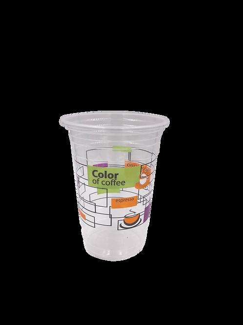 แก้วพลาสติก PP 16 ออนซ์ ปาก 95 เรียบลาย color of coffee