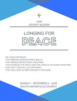 South Grandville Chuch 2018 Advent Peace