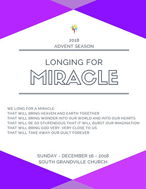 South Grandville Chuch 2018 Advent Mirac