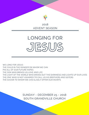 South Grandville Chuch 2018 Advent Jesus