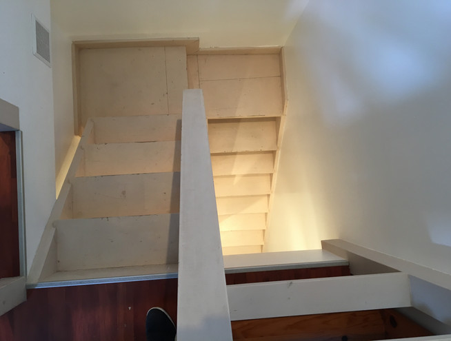 Escaliers vus de dessus