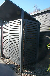 Firewood Shed side view full of wood