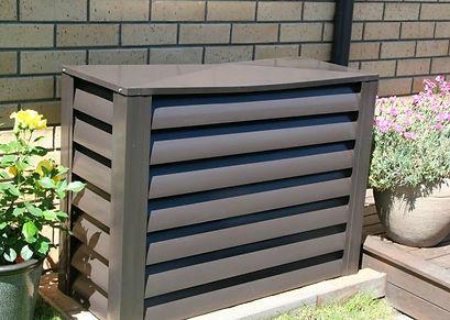 Hideawayz Heat Pump Cover Brownpg