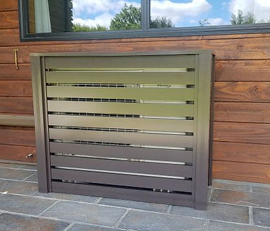 Slat Design Heat Pump Cover
