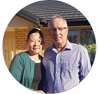 Andre and Florence Meyer, owners of HUNA Covers and Sheds