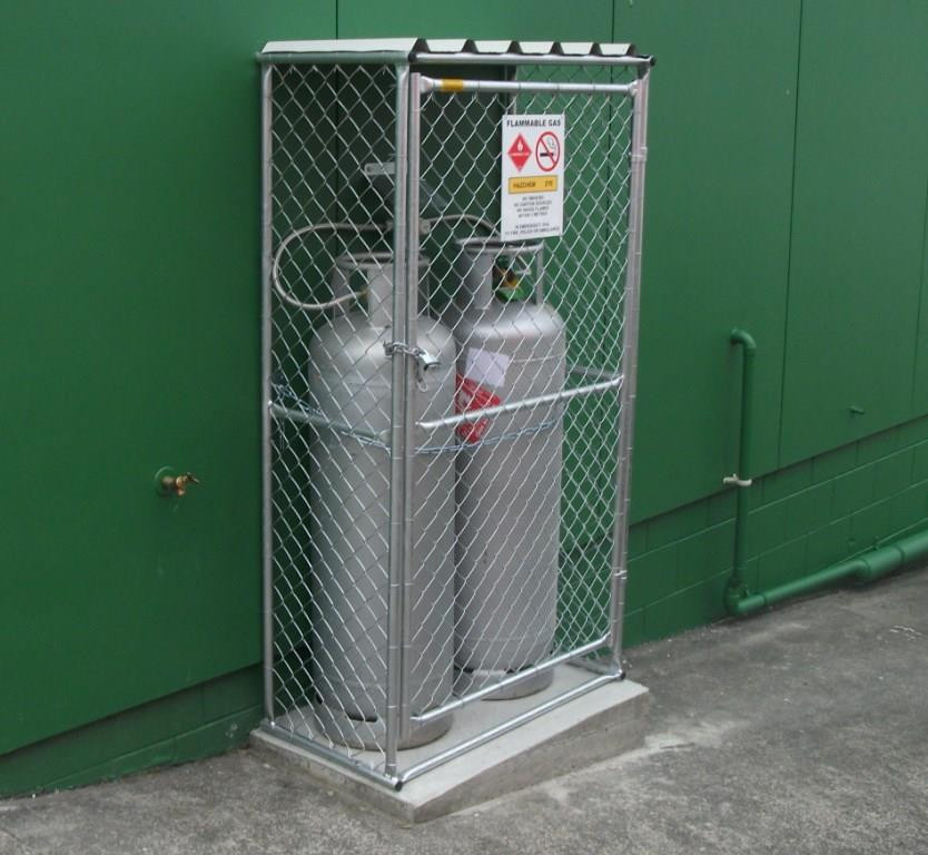 Gas Bottle Cage Secure LPG cage Security Cage in NZ