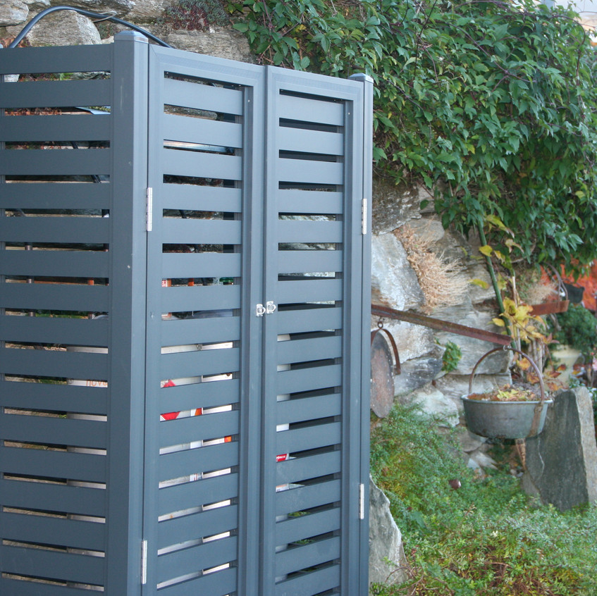 Gas Bottle Cages hiding gas bottles
