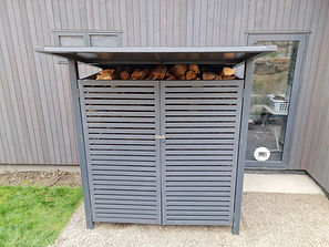 Firewood Shed Front View