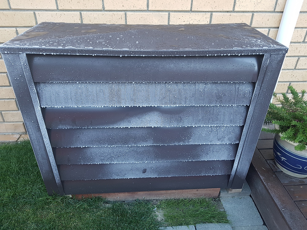 Heat Pump Cover in Frost