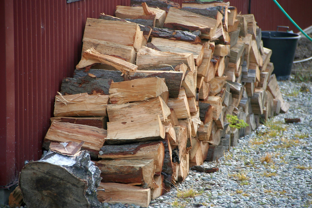 firewood wood storage shed