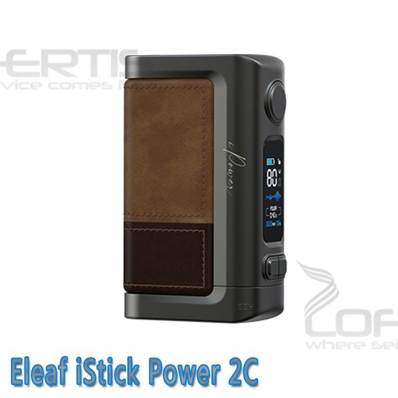 Eleaf Power 2C Akkuträger für zwei 18650 Akkuzellen. Farb-Display, 160W Leistung, Ledereinband und vieles mehr...