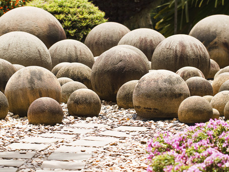 Shaped Stone Adds Contrast In A Natural Setting !
