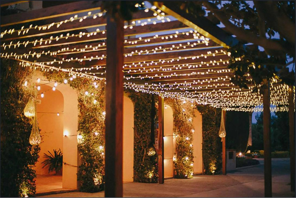 Illuminating your garden structures can create an irresistible living space in seconds.