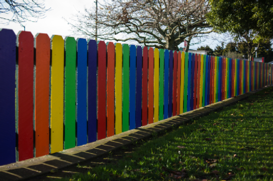 * Fencing made of Cement Fiber Boards