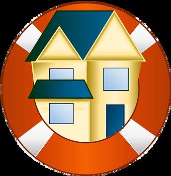 cartoon house logo