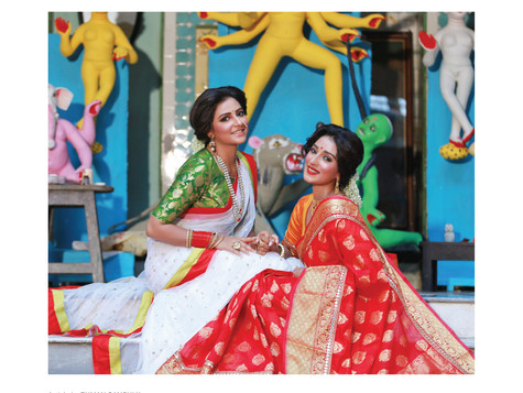 Shobhoshree and Shayantika for Calcutta Times