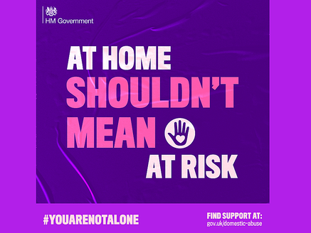 #YouAreNotAlone… At Home Shouldn't Mean At Risk